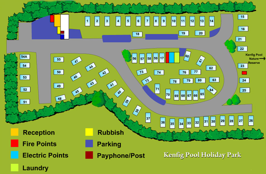 Kenfig Holiday Park Map